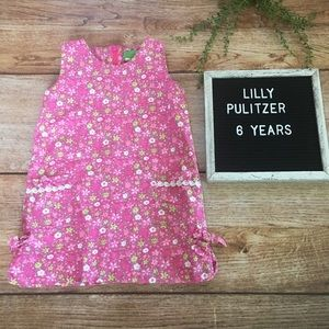Minnie by Lilly Pulitzer Girls pink Floral Dress 6